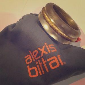 Alexis Bittar gold lucite bracelet